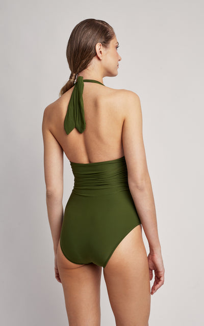 Grove Adjustable Halter One Piece Swimsuit