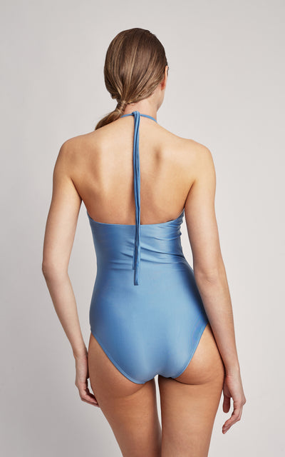 Pacific Agate High Neck One Piece Swimsuit