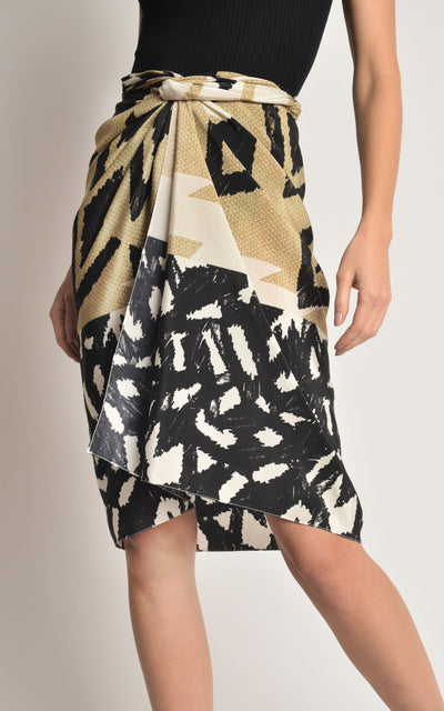 Straw Knot Sarong Cover-up