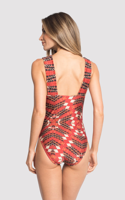 Jasper Wide Strap One Piece Swimsuit