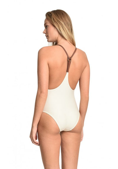 OFF WHITE LEATHER ONE PIECE