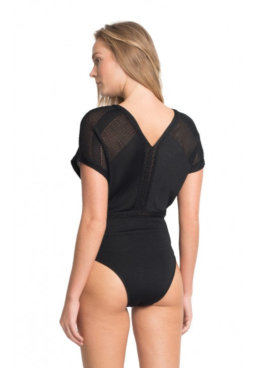 Black Tricot One Piece Swimsuit