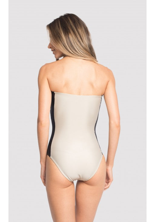 GRAPHISM COLORBLOCK BANDEAU ONE PIECE