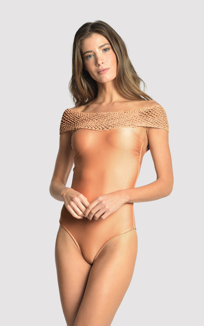 Regia Net Macrame One Piece Swimsuit