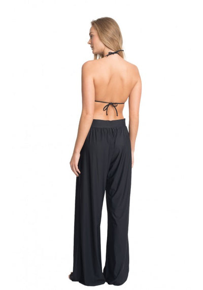BLACK WIDE LEG TOUCH PANTS