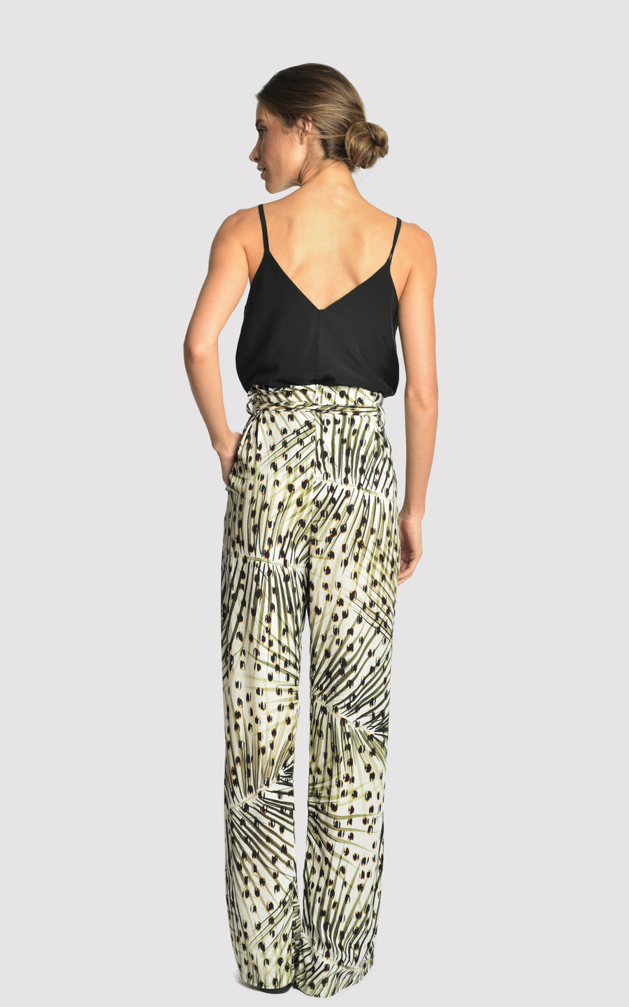 Cheetah Wide Viscose Pants
