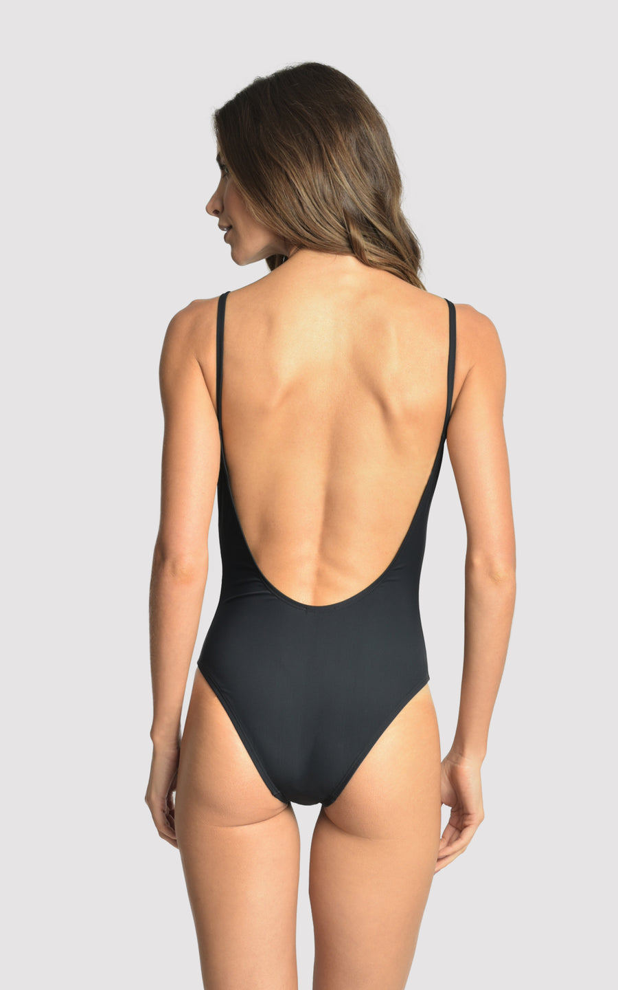Black Tank One Piece Swimsuit