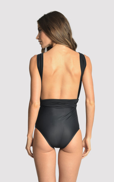 BLACK CHIC HALTER ONE PIECE