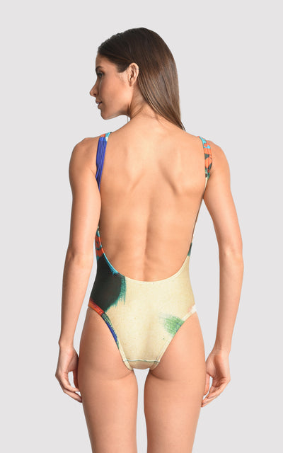 Brush Athletic One Piece Swimsuit