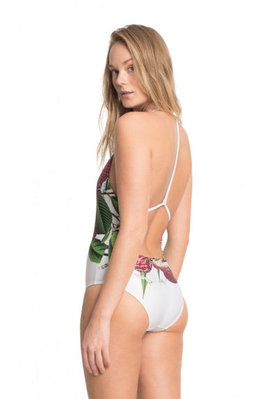 Fidji Floral Halter Straps One-Piece Swimsuit