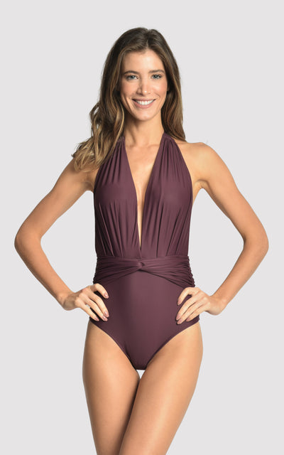 EGGPLANT DEEP V ONE PIECE