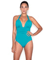 Jade Adjustable Halter One Piece Swimsuit