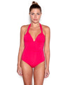 Delhi  Adjustable Halter One Piece Swimsuit
