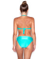 Green Sea Drop Bandeau and High Waist Bikini