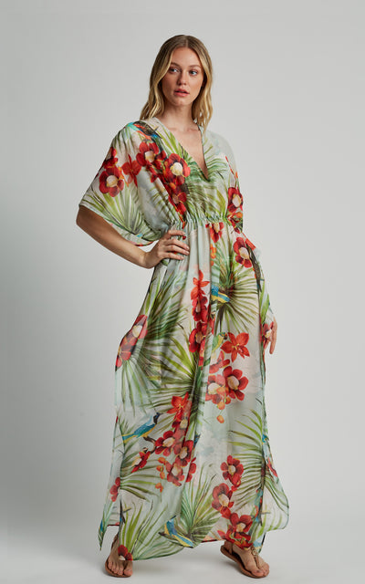 Map Long Caftan Cover-Up