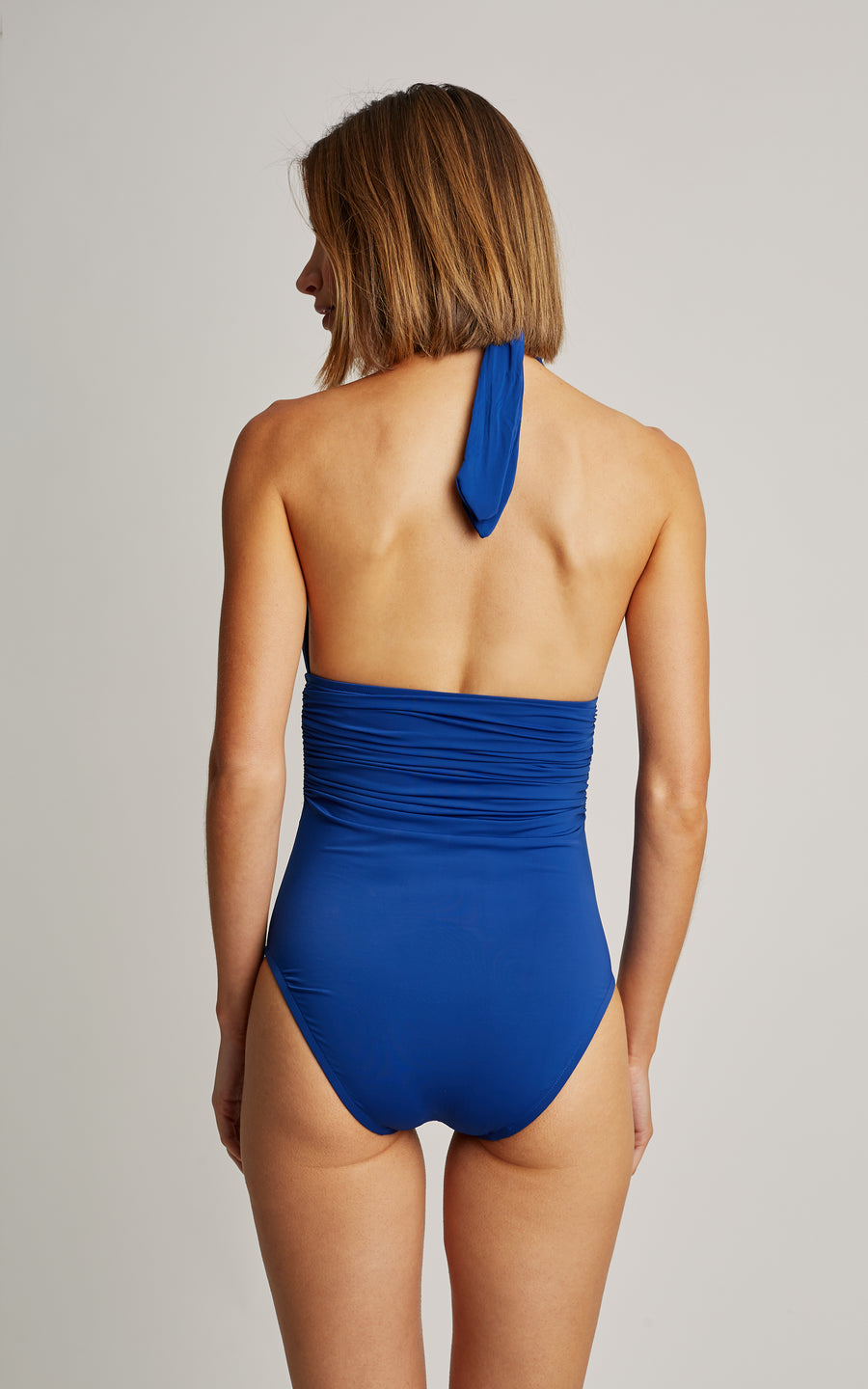 Royal Blue Adjustable Halter One Piece Swimsuit (SUSTAINABLE COLLECTION)