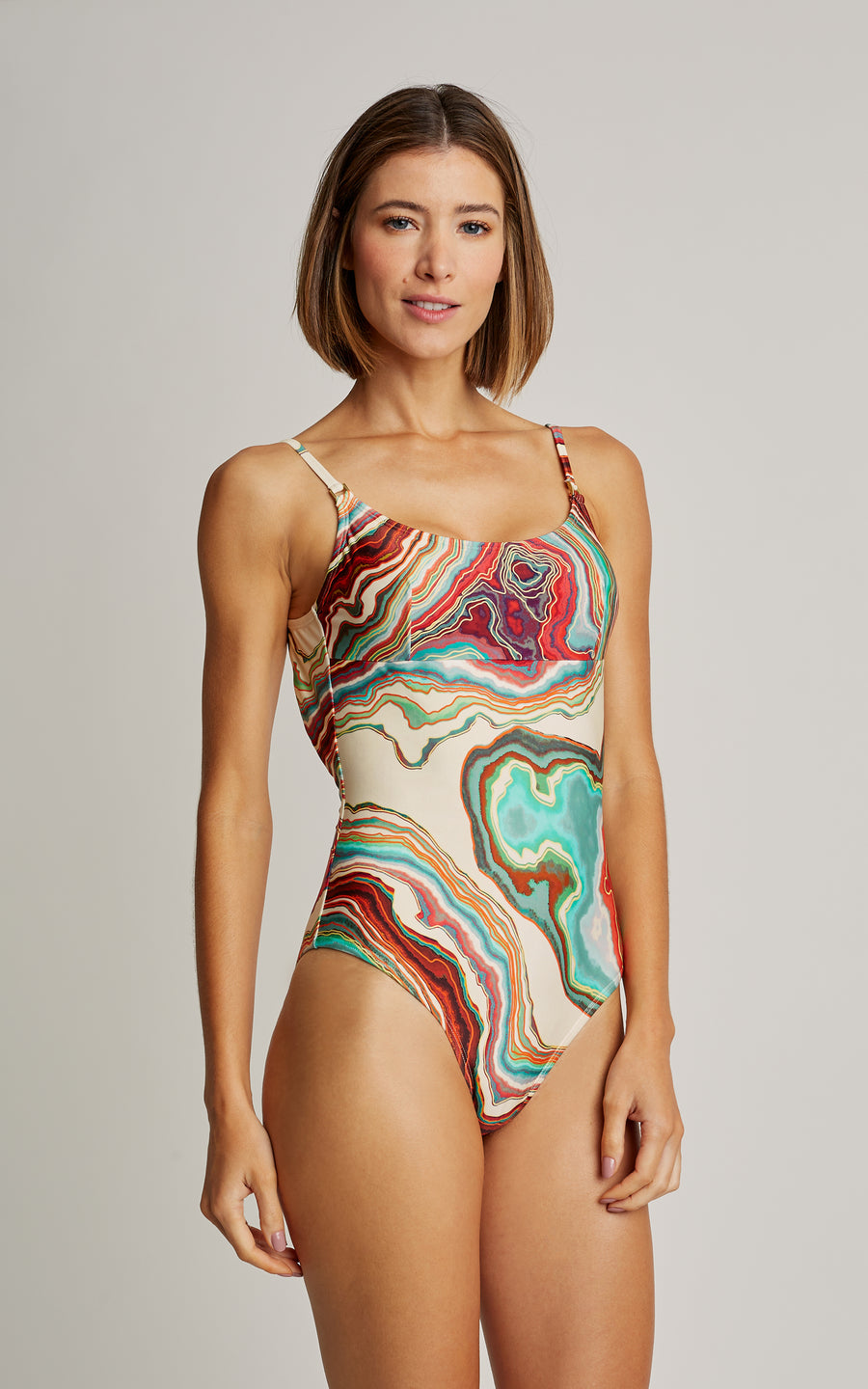 Mineral Tank One Piece Swimsuit