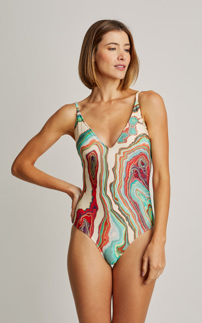 Mineral Basic V One Piece Swimsuit