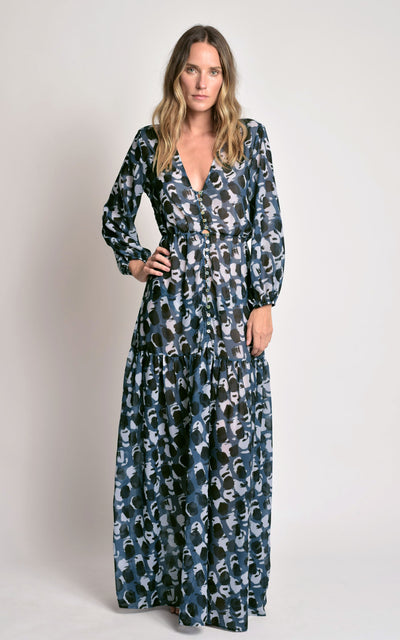 Mirage Ruffled Maxi Dress