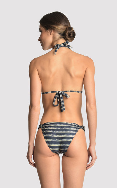 Indigo Bikini Adjustable Lycra Top and Bottom