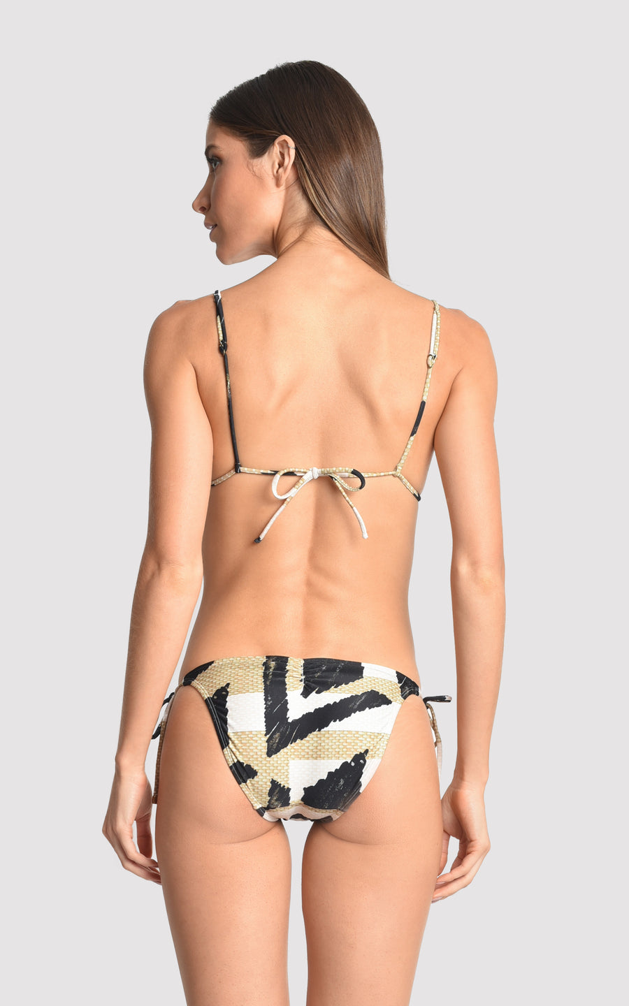 Straw Bikini String Top and Bottom