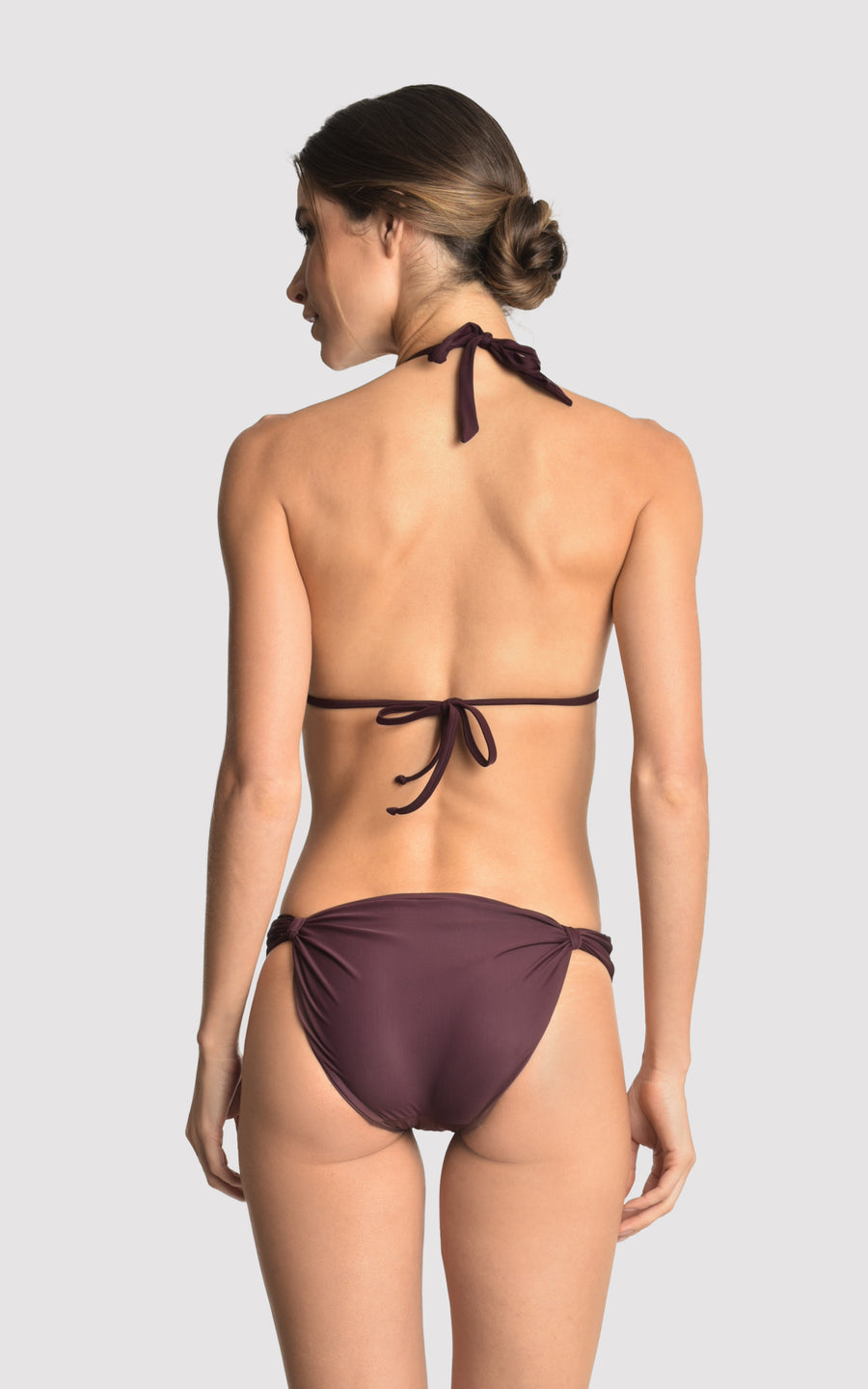 Eggplant Bikini Adjustable Accessory Top and Bottom