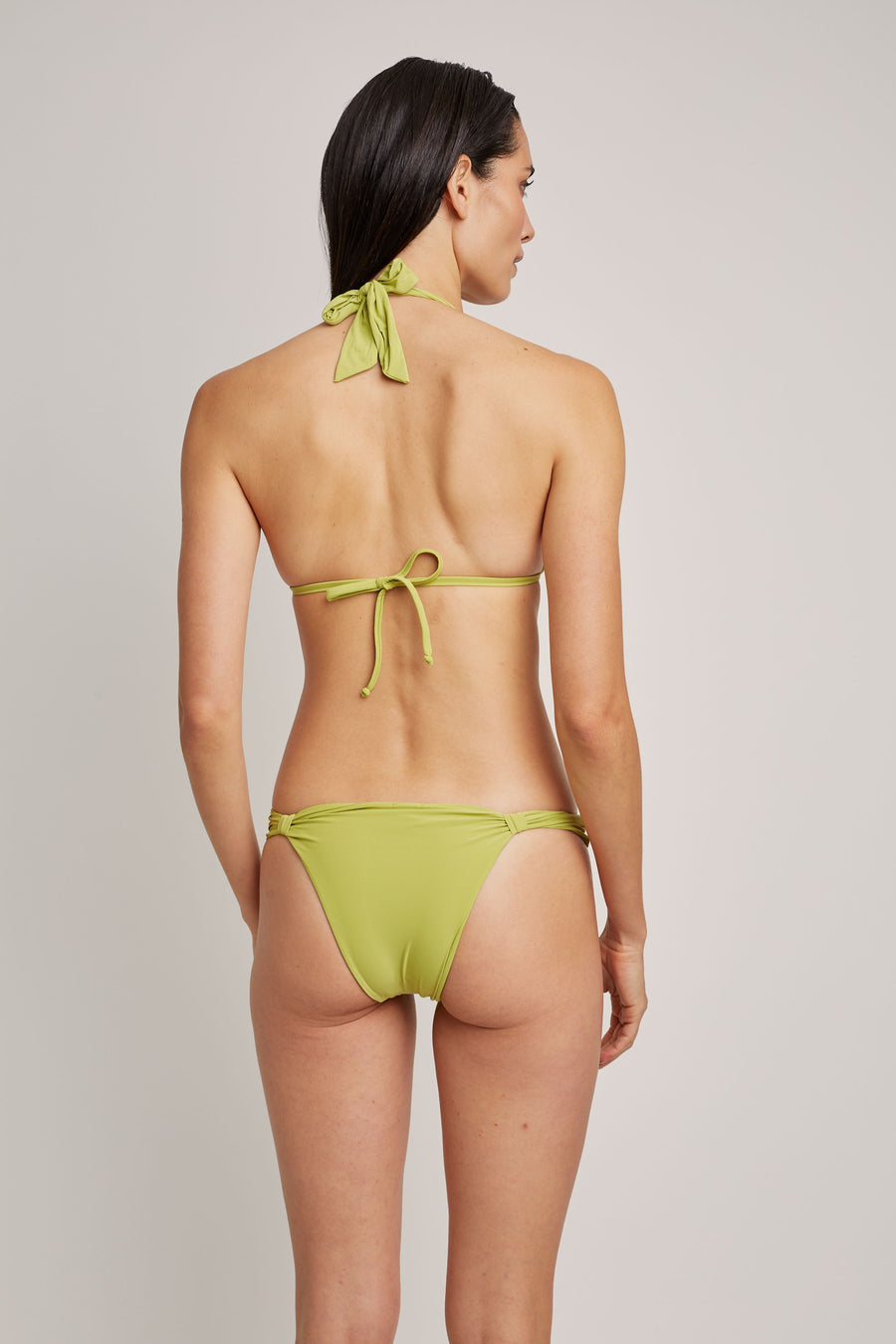 Lime  Adjustable Padded Top and Adjustable Bikini Bottom (Sustainable Collection)