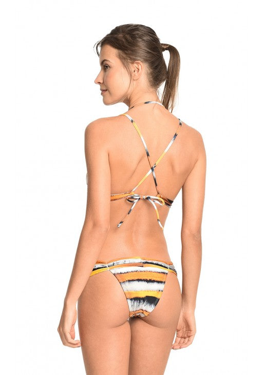 Iris Beaded Halter Top and Draped Bottom