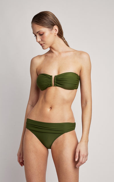 Grove Bikini Drop Bandeau Top and High Waist Bottom