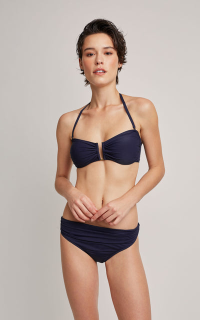 Shangai Drop Bandeau Top and High Waist Bottom Bikini Set (SUSTAINABLE COLLECTION)