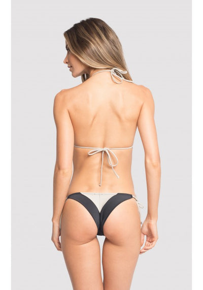 Graphism Color Block String Bikini Top and Bottom