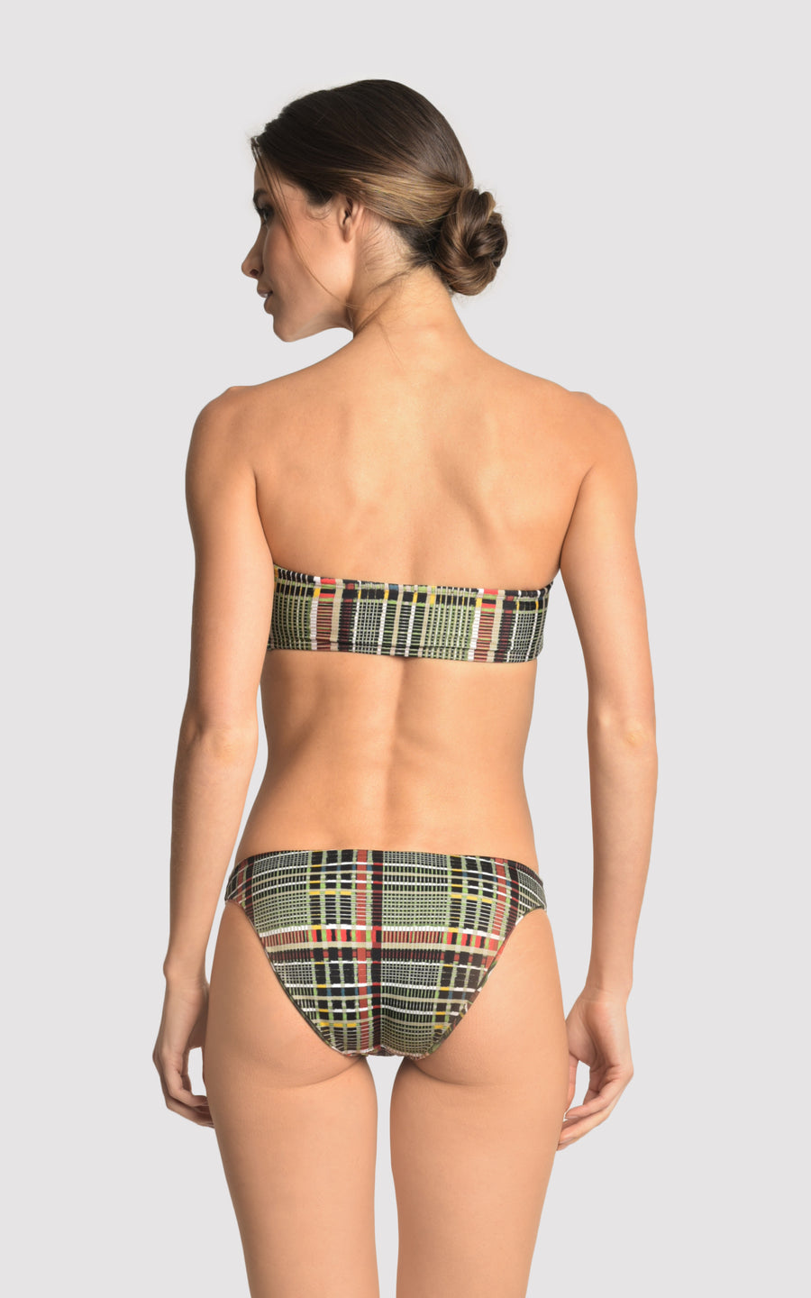 Plaid Basic Bandeau Top and Athletic Bottom