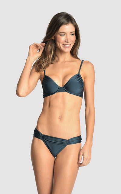 Blue Star Herta Ruched Top and Ruched Bottom