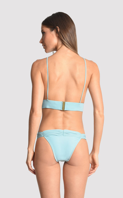 Sea Water Bikini Beaded Top and Ruched Bottom (SUSTAINABLE COLLECTION)