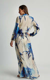 Watercolor Premium Long Sarong Cover-Up Maxi Runway Dress