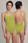 Lime  Basic round neck One Piece Swimsuit
