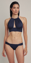 North Drop Bandeau Top and High Waist Bottom Bikini Set (Sustainable Collection)
