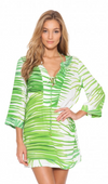 Trancoso Long Sleeve V-Neck Tunic Cover-Up (Final Sale)