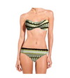 Tribe Bikini Top Twist Bandeau with Hi Waist Full Bottom (Final Sale)