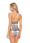 SAVAGE PRINTED DEEP V TWISTED ONE PIECE (Final Sale)