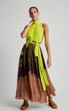 Clay Neon Pleated Runway Skirt