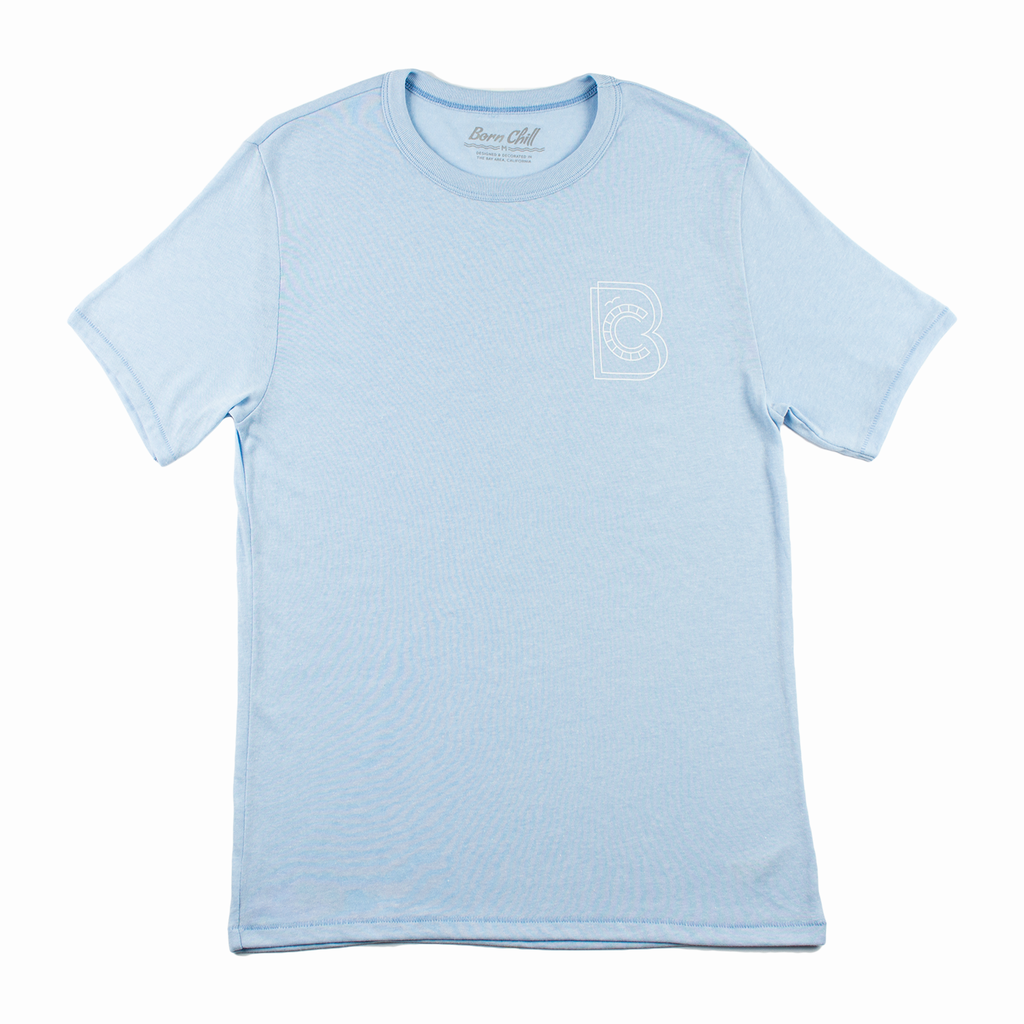 Digital Wave Tee - Sky Blue