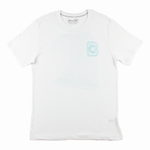 DIGITAL WAVE TEE, WHITE