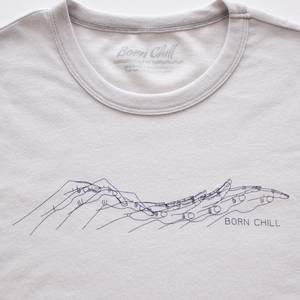 Hand Dolphin Tee - Silver