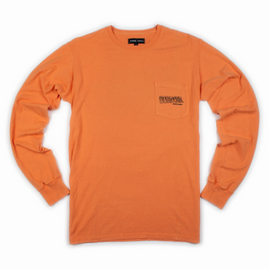 Lifted Long Sleeve with Pocket, Garment-Dyed - Pumpkin Orange