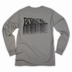 Lifted Long Sleeve with Pocket, Garment-Dyed - Slate Gray