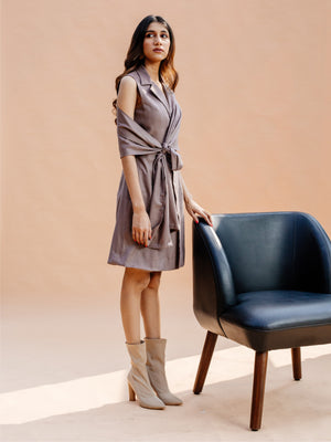 Pewter Wrap Dress