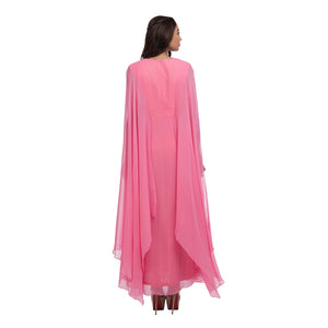 Pink Split Sleeves Gown