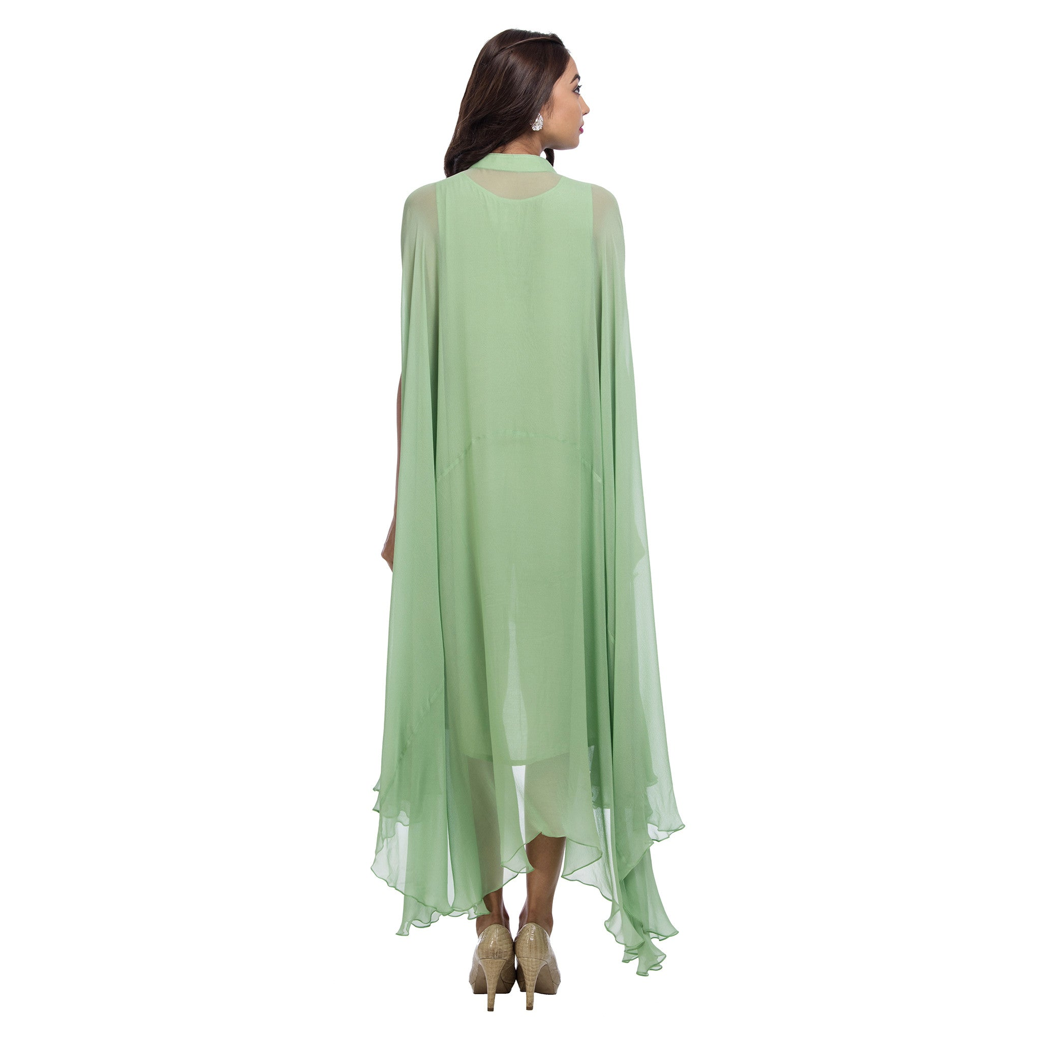Mint Trapeze Cut Tunic