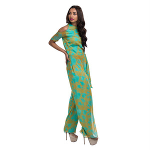 Printed Draped Jumpsuit